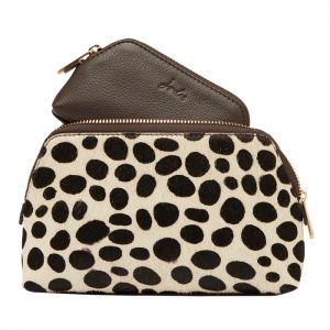 Joules Peplow Leather Cosmetic Purses – Dalmatian