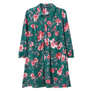 Joules Women's Athena Pop Over Top – Green Floral