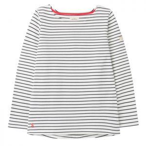 Joules Women's Harbour Jersey Top – Cream / Navy Stripe