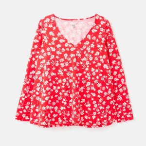 Joules Women's Harbour Jersey Top – Red Floral