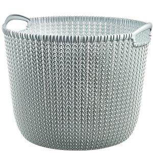 Curver Knit Basket- 30 Litre, Misty Blue