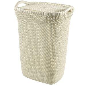 Curver Knit Laundry Hamper - 57 Litres, Oasis White