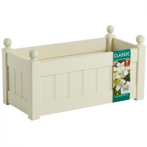 AFK Classic Wooden Trough, Cream - 26in