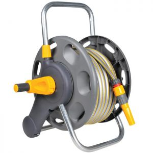 Hozelock 2431, 2 In 1 Reel with Hose - 25m