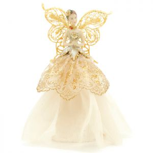 Festive Angel Tree Topper - Gold