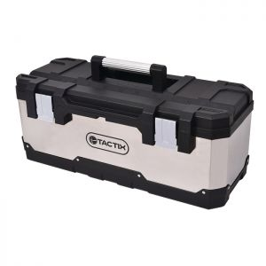 Tactix Stainless Steel Tool Box - 26in