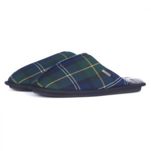 Barbour Men's Young Slippers – Seaweed Tartan