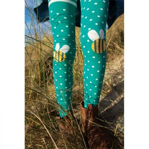 Frugi Baby Fun Knee Tights – Jewel Spot Bee