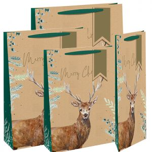 Christmas Alpine Stag Gift Bag