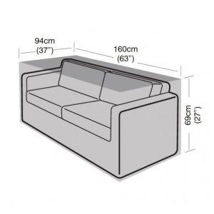 Garland 2-Seater Large Sofa Cover - Black