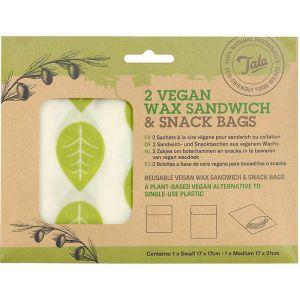 Tala Vegan Sandwich & Snack Wax Bags – Pack of 2