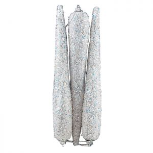 Snow White Icicle Hanging Decorations, 25cm - 3 Pack