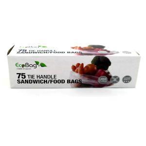 Eco Bag Tie Handle Food Bags – 75 Pack