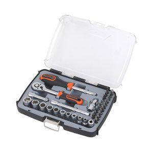 Tactix 37 Piece 1/4 Inch Drive Socket Set