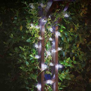 Smart Solar SuperBright String Lights - White, 25 Orbs