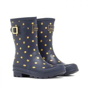 Joules Mid-Height Molly Wellies – Navy Ladybirds