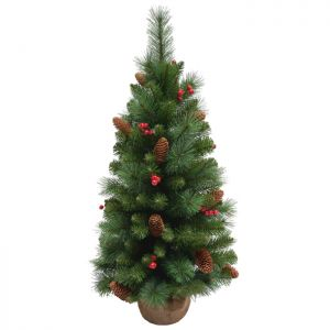 National Tree Everyday Christmas Tree in Burlap - 3ft