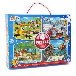 Grafix 4 Puzzle Collection - Farmyard, Dinosaurs, Pirates, Vehicles