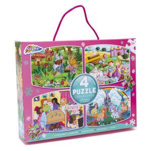 Grafix 4 Puzzle Collection - Fairies, Princess, Sleepover, Unicorns