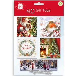 Traditional Christmas Gift Tags - Pack of 40