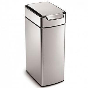 Simplehuman 40 Litre Slim Touch-Bar Bin - Stainless Steel
