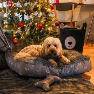 Rosewood Wolf & Tiger Antler Hygge Mattress Dog Bed