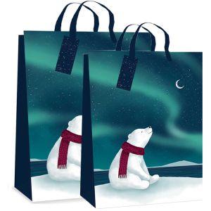 Polar Bear Northern Lights Gift Bag