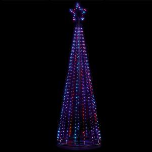 Premier LED 2.5m Pin Wire Pyramid Tree - Rainbow