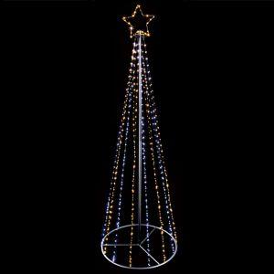 Premier LED 2.5m Pin Wire Pyramid Tree - Warm White