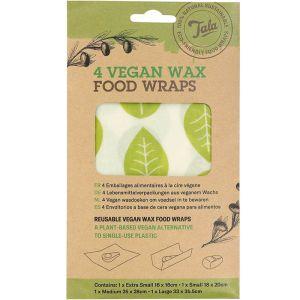 Tala Vegan Wax Food Wrap – Pack of 4