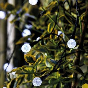 Smart Solar SuperBright String Lights - White, 50 Orbs