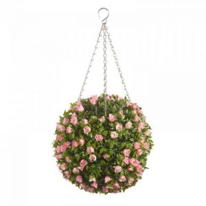 Smart Garden Pink Rose Topiary Ball