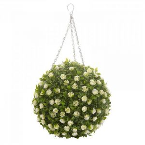 Smart Garden White Rose Topiary Ball