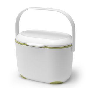 Addis Kitchen Compost Caddy, 2.5 Litre - White/Green