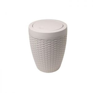 Addis Rattan Bath Bin, 5 Litre - Cream