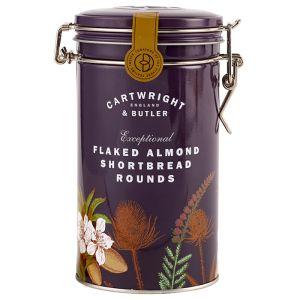 Cartwright & Butler Flaked Almond Shortbread Rounds Tin