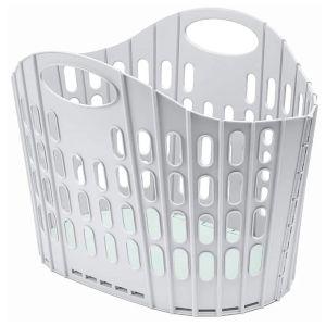 Addis Fold Flat Laundry Basket, 38 Litre – Grey/Green