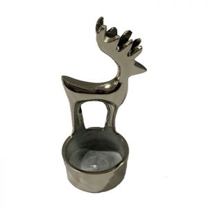 Deer Tea Light Holder - Nickel