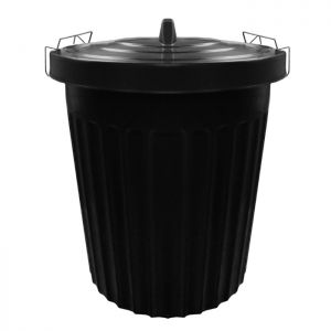 Thumbs Up Dustbin with Metal Clip Lid, 100 Litre - Black