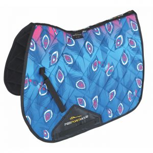 Shires Performance Sport XC Saddlecloth - Pink Peacock