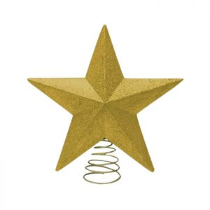 Glitter Star Tree Topper, 28cm - Gold
