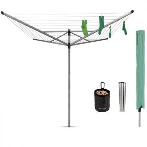 Brabantia 50m Lift-O-Matic Rotary Airer with Accessories
