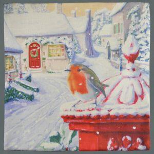 Christmas Robin Cushion Cover – 44cm