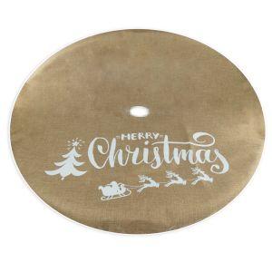 Jute Style Christmas Tree Skirt - 1.1m