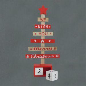 We Wish You A Merry Christmas Tree Advent Calendar – 27cm