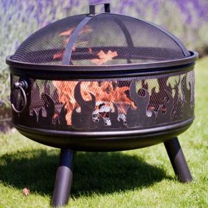 La Hacienda Wildfire Firepit with Grill