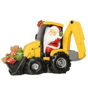 Jingles Santa on Digger Ornament