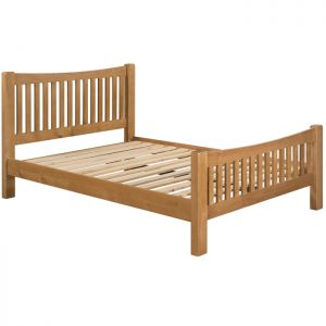 Torino Oak High End Bed - King