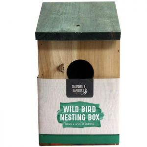 Nature's Market Wooden Wild Bird Nesting Box