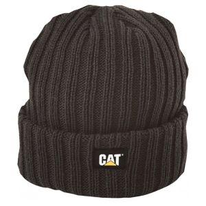CAT Ribbed Beanie - Black